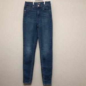 Light blue jeans/mile high super skinny